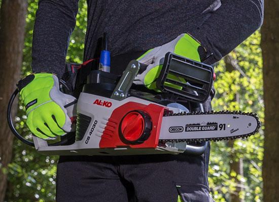 AL-KO chain saws Advantages | Ergonomic working